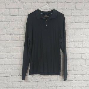 Jos. A. Bank | Black Long Sleeve Polo Shirt